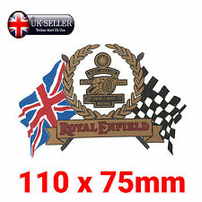 Royal Enfield Sticker - Make Life A Gun, Decals, Gold and Black, Flag, British