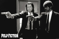 PULP FICTION DUO GUNS 24x36 poster TARANTINO TRAVOLTA JACKSON THURMAN KEITEL NEW