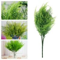 5Pcs Artifical Plastic Green Plant Fake Leaves Home Wedding Office Decor