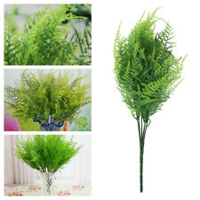 5pcs Fake Green Leaves Plant Asparagus Fern Grass Home Artificial Faux Decor US