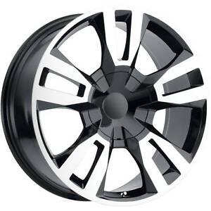 22x9 Machined Black Wheel OE Performance 188 2019 Chevrolet Silverado RST Rep...