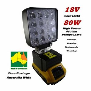 18V Li-ion DeWalt Work Light Compact Camping Photography - New and Improved!