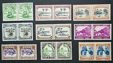 Samoa: 1935 almost complete definitive set as mounted mint pairs