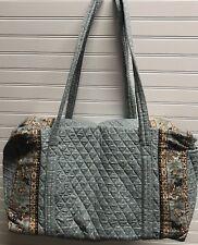 Vera Bradley Retired Rare Pewter Gray Grey Large Duffel Bag
