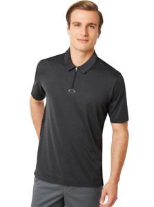Oakley - PERF ELLIPSE - Mens Polo Golf Shirt - S  - 434340-01S - BLACK - S.I