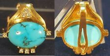 Pendant 750 GOLD WITH TURQUOISE AND DIAMONDS GERMANY/Austria 6,85 G