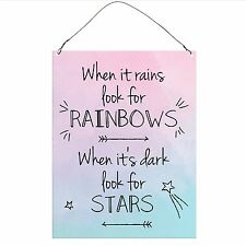 Look For Stars Inspirational Funny Retro Vintage Wall Metal Plaque Sign 15x20cm