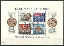 DDR Block 9 A YII (Karl Marx) mit Sonderstempel gepr. Tichatzky BPP