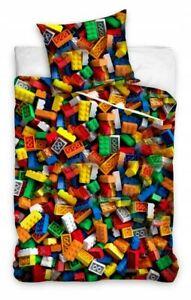 Lego Blocks Children Kids Bedding Duvet Cover Pillowcover Set 100% Cotton Single