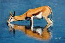 Deer, Animal Painting, Textured Oil Painting, Large Animal Painting