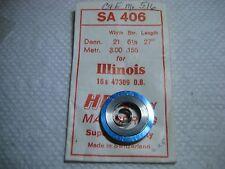 "ILLINOIS MAINSPRING #47309  16s    ALL BUNN SPECIAL 60HR MODELS  ""WHITE ALLOY"""