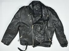 Worth White Men's Cowhide Motorcycle Moto Jacket Size 48 from 90's Vintage