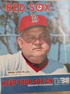 Boston Red Sox Program 1977 Don Zimmer