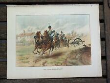Royal Horse Artillery Chromolithograph 1890