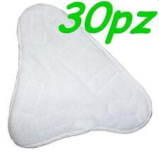 SET 30 PANNI MICROFIBRA PER SCOPA A VAPORE X5 H2O MOP H20  CON VELCRO PAVIMENTO