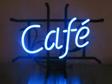 "Cafe Coffee Shop Neon Lamp Sign 14""x6"" Bar Lighting Garage Cave Pub Wall Artwork"