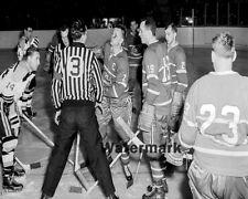 1950's HOFer Doug Harvey Montreal Canadiens vs Boston Bruins 8 X 10 Photo