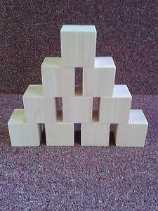 50mm PINE CUBES WOODEN BLOCKS choose quantity 10 / 15 / 20