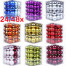 48Pcs Glitter Christmas Balls Baubles Tree Hanging Ornament Christmas Decor Du