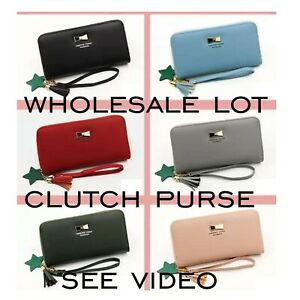 wholesale lot soft faux leather clutch purse small handbag SEE VIDEO £2.50