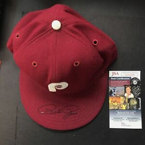 Pete Rose Autographed Signed Red Hat JSA CERTIFIED MLB PHILADELPHIA Phillies