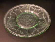 Three Assorted Rose Cameo Green Depression Glass Pieces
