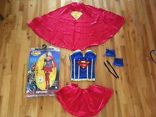 Adult Licensed Sexy Superhero Supergirl Ladies Fancy Corset Dress Costume Sz XS
