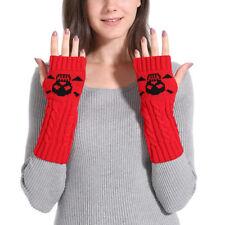Warmer Mitten Gloves Long Fingerless Winter Fashion Arm Wrist Knitting Gloves