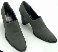 ROBERT CLERGERIE Paris Gray Fabric Pumps Shoe Bootie Sz 10M EUC LN France Womens