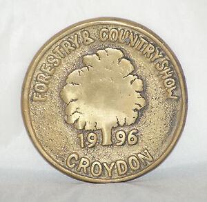 1996, Croydon - Country Show  [ Brass plaque ] 7.8cm Round