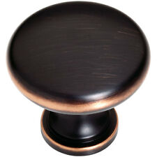 "Liberty Garrett 1-1/4"" Oil Rubbed Bronze Cabinet Knob with Copper Highlights"