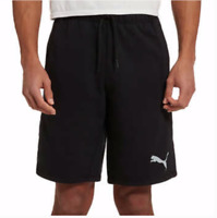 New Men's Puma French Terry Athletic Shorts Black Medium XL XXL