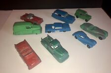 Vintage Toosie Toy 9 Car/Truck Lot Panel Thunderbird Pickup, Pymouth 39 Mercedes