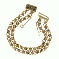 "Tiffany & Co Vintage 18K Yellow Gold Double Chain Signature X Link Bracelet 7.5"""