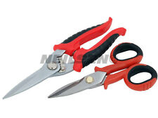 CT1812 2PC Electricians Scissors / Cable Shears Cutter Set Also Cuts Sheet Metal