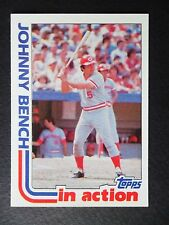 1982 TOPPS JOHNNY BENCH IN ACTION BASEBALL CARD #401