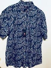NWT Mens VINEYARD VINES Cobalt Blue Resort Casual Linen Button Murray Shirt Sz L
