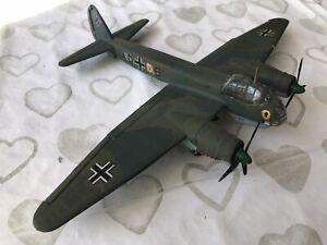 1/72 JUNKERS JU-88 A-4 WW2 GERMAN BOMBER DIECAST CORGI ATLAS PAIR MISSING PROP