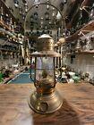 Antique  PERKO BRASS SHIP KEROSENE LANTERN - NEW OLD STOCK - NEVER BURNT