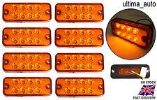 8X 12V LED FRONT SIDE REAR ORANGE MARKER INDICATOR LIGHTS LAMPS CAMPER CARAVAN