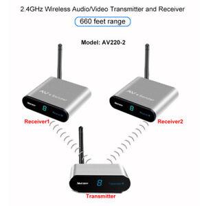 2,4GHz Wireless AV Transmitter Receiver 200M Signal Sender Emitter Receiver