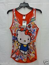 "Sanrio ""Hello Kitty"" Officially Licensed Sleeveless Print Tank Top,Multicolor, M"