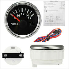 1x 52mm LED Backlight Automobile Marine Pointer Volt Meter Gauge Voltmeter 9-32V