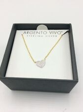 ec1935d71 ARGENTO Vivo Womens Pavé Heart Pendant Necklace 16