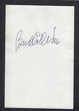 Bud Collins Autographed 4x6 Index Card Great for Framing Tennis HOF Commentator