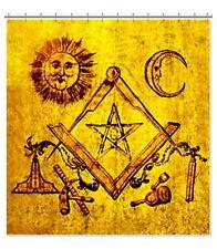 Vintage Masonic Lampskin Apron Translite 6'x6' Robert Burns Freemason Banner