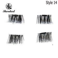 SKONHED 4 Pcs Lashes 3D Magnetic False Eyelashes Reusable Lashes Extension
