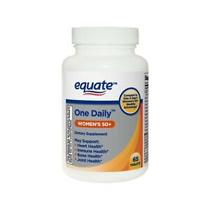Equate One Daily Tablets Women's 50+ 65 Ct Healthy Aging General Wellness.