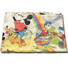 Vintage Disney Pacific Twin Fitted Mickey Mouse Rainbow Painting Sheet Bedding