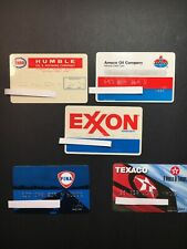 5 Vintage Expired Credit Cards For Collectors - Gas Theme Lot 1
